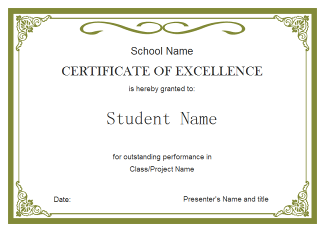 certificate outline template customizable certificate templates