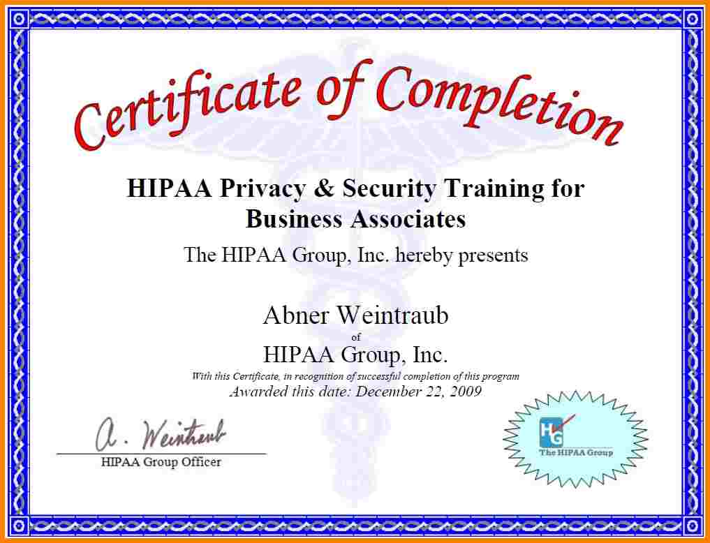 Hipaa training certificate template choice image templates hipaa training certificate template images templates example hipaa training certificate template images templates example hipaa training yadclub