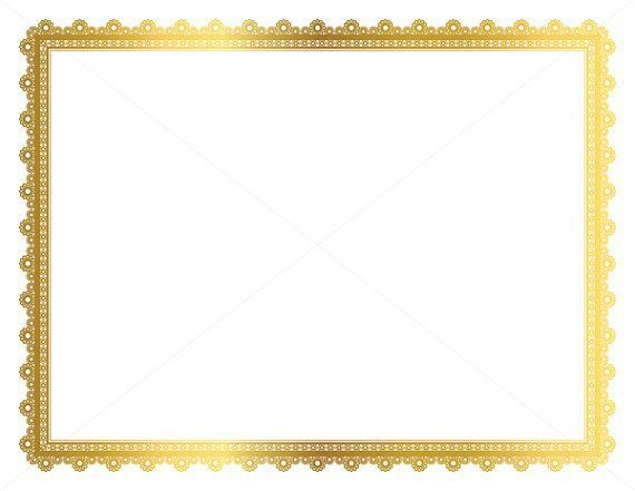 Blue Vintage Retro Frame Certificate Background Stock Vector