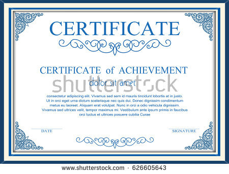 Certificate Frame — Stock Photo © createfirst #3527353