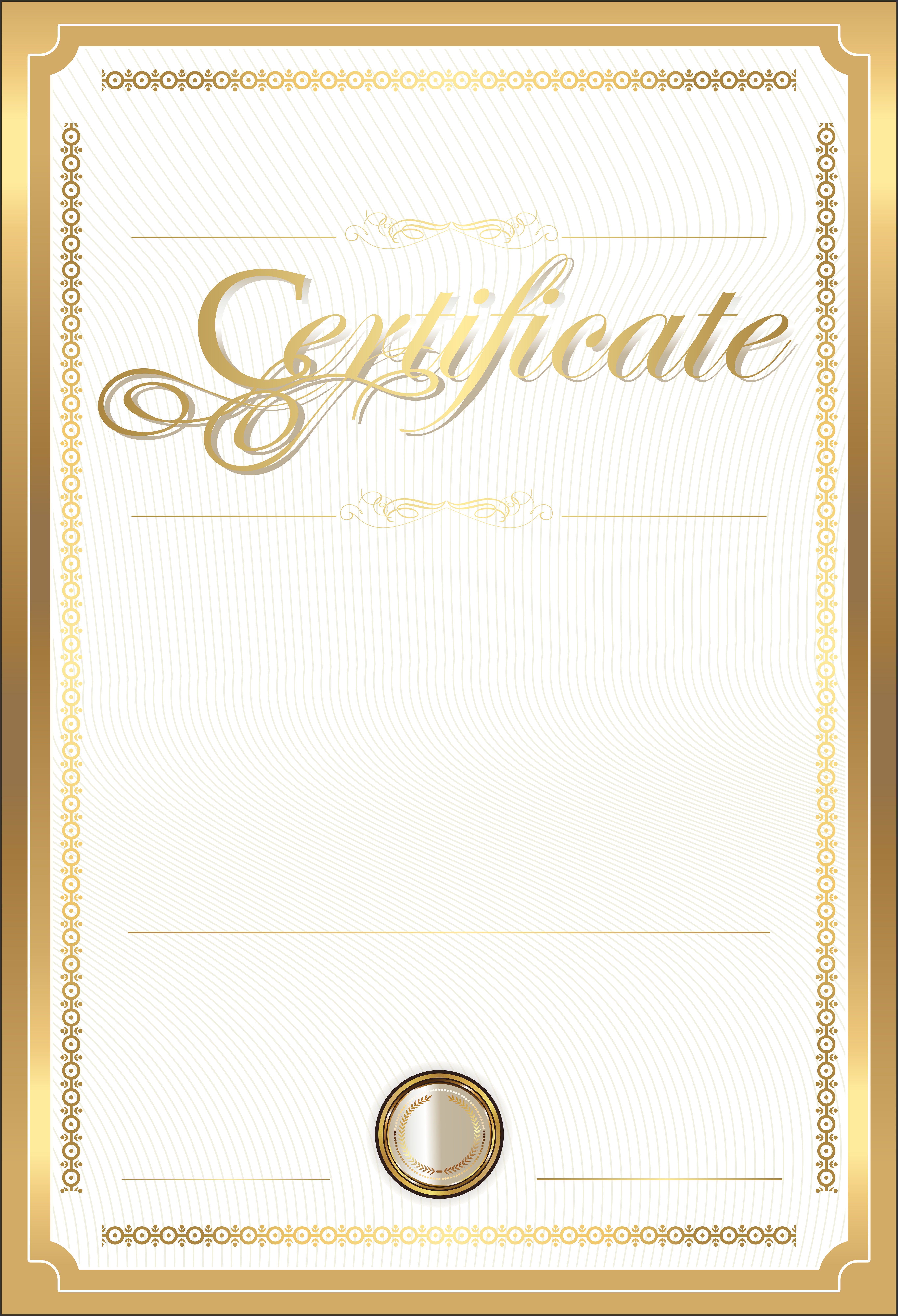 Gold Certificate Template PNG Clip Art Image​ | Gallery