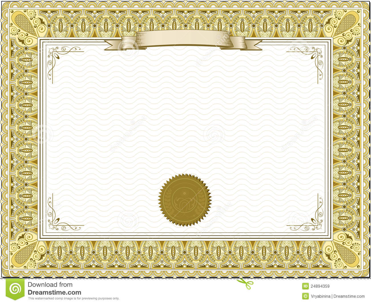 Gold Detailed Certificate Royalty Free Stock Images Image: 24894359