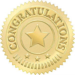 Certificate Gold Stamp Certificates Templates Free
