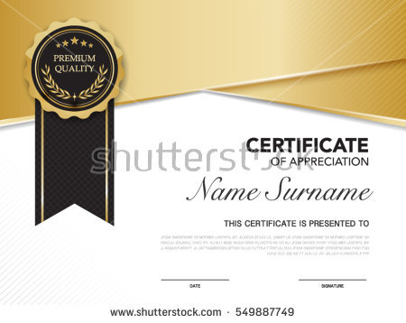 Certificate gold frame stock vector. Image of gold, rosette 18319973