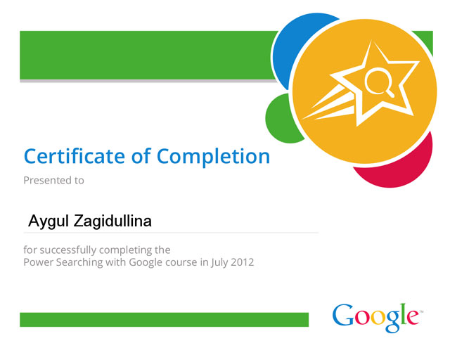 Google Power Searchers Get Their Certificates