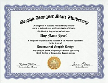 Buy Graphic Designer Graphic Design Degree: Custom Gag Diploma