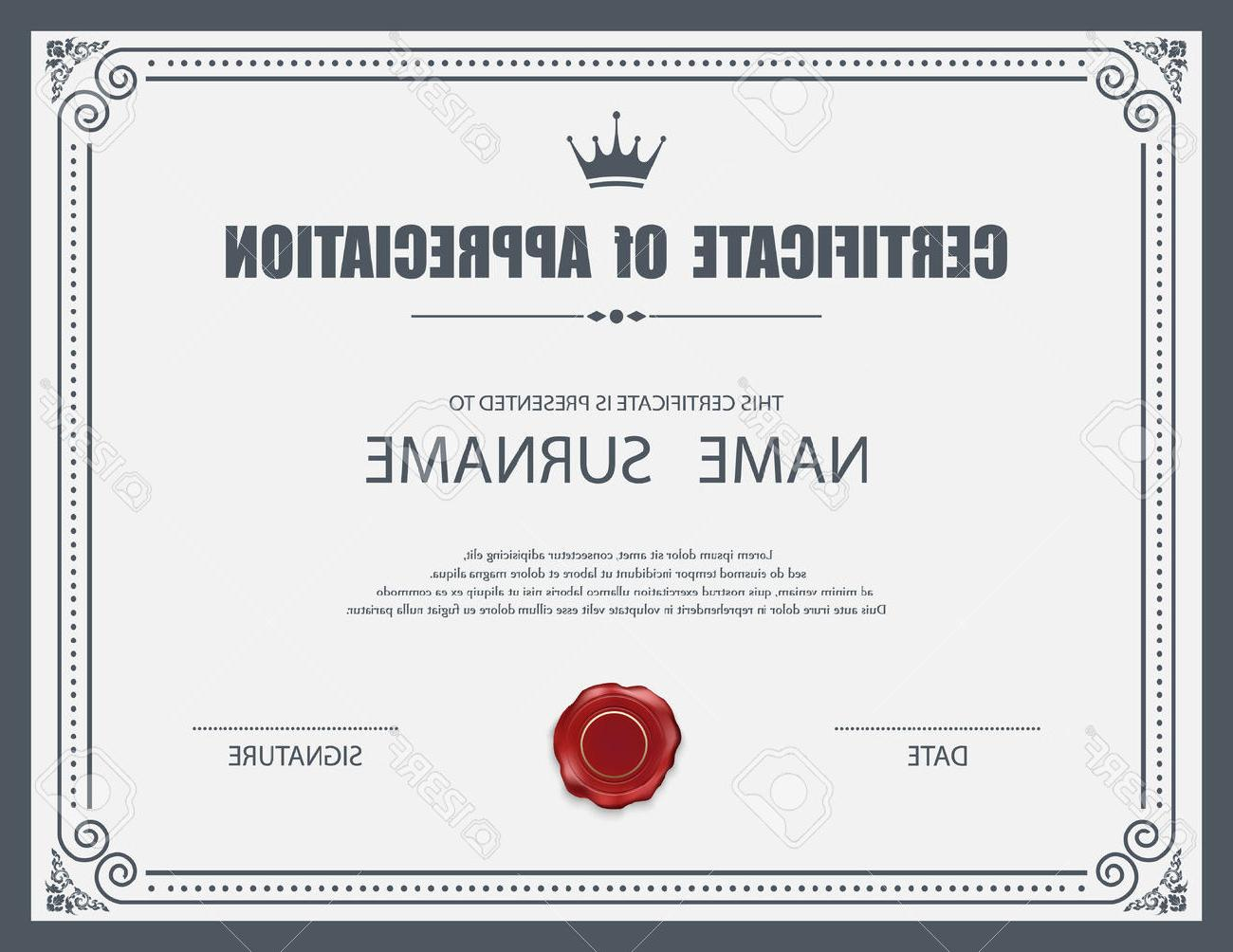 Grey pattern certificate design vector – Over millions vectors