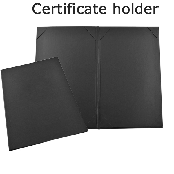 factory customised logo A4 certificate holder, postgraduate