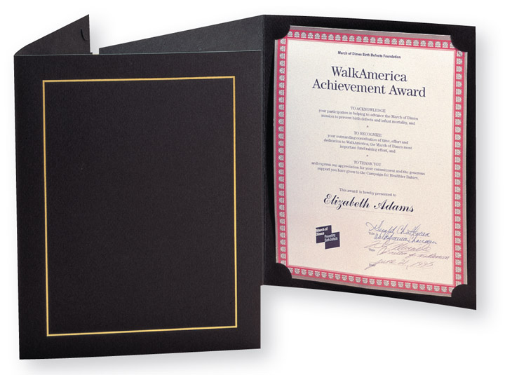Whitney Certificate Folder by TAP Packaging Solutions