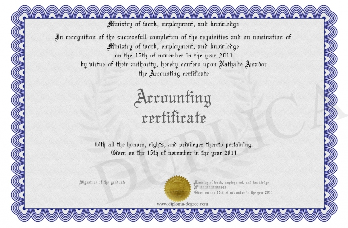 Certificate in accounting certificates templates free for Audit certificate template