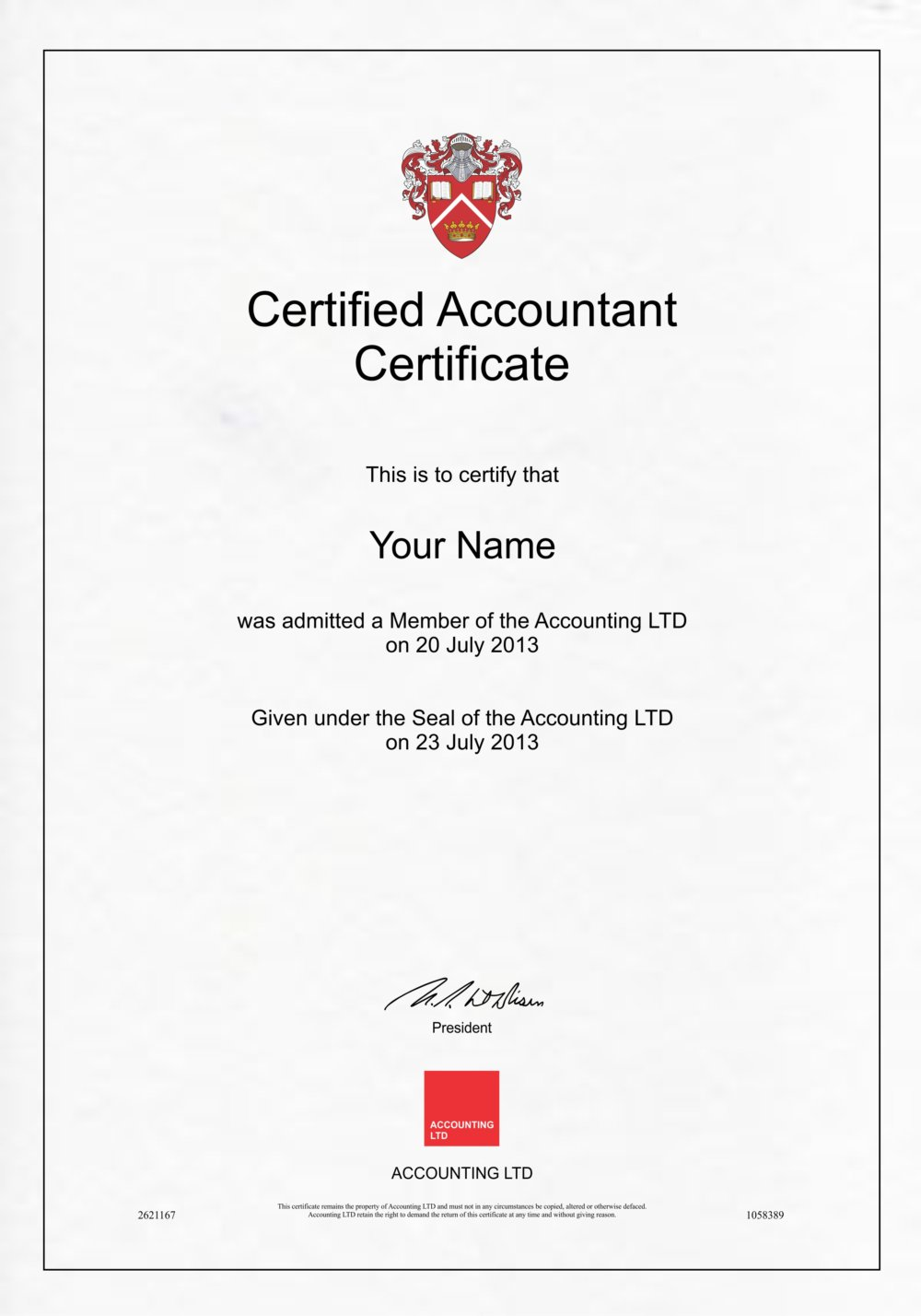 Fake Accounting Certificate 1 Diploma Outlet