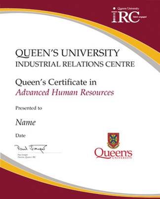 Certificates in Human Resources | Queen's University IRC