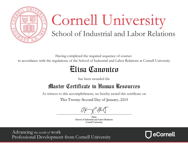 HR Master Certificate