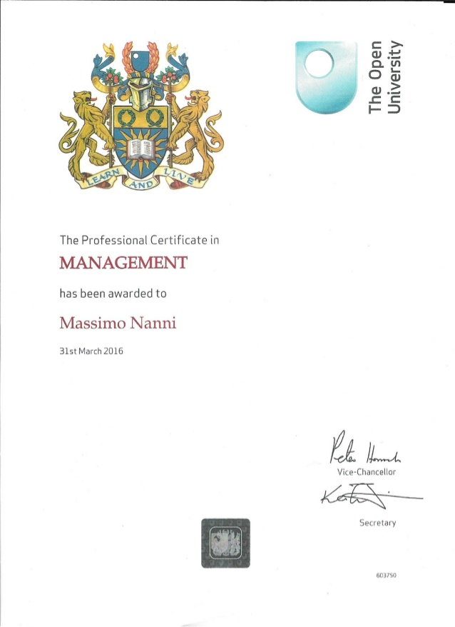 Professional Certificate in Management