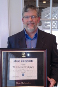 Covington Earns The Duke University Executive Certificate In