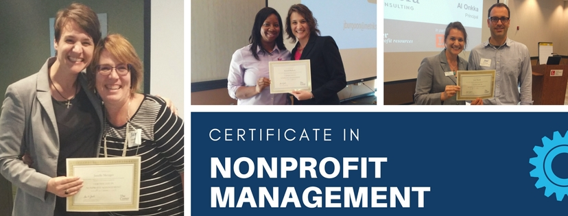 Certificate in Nonprofit Management Center for Nonprofit Resources
