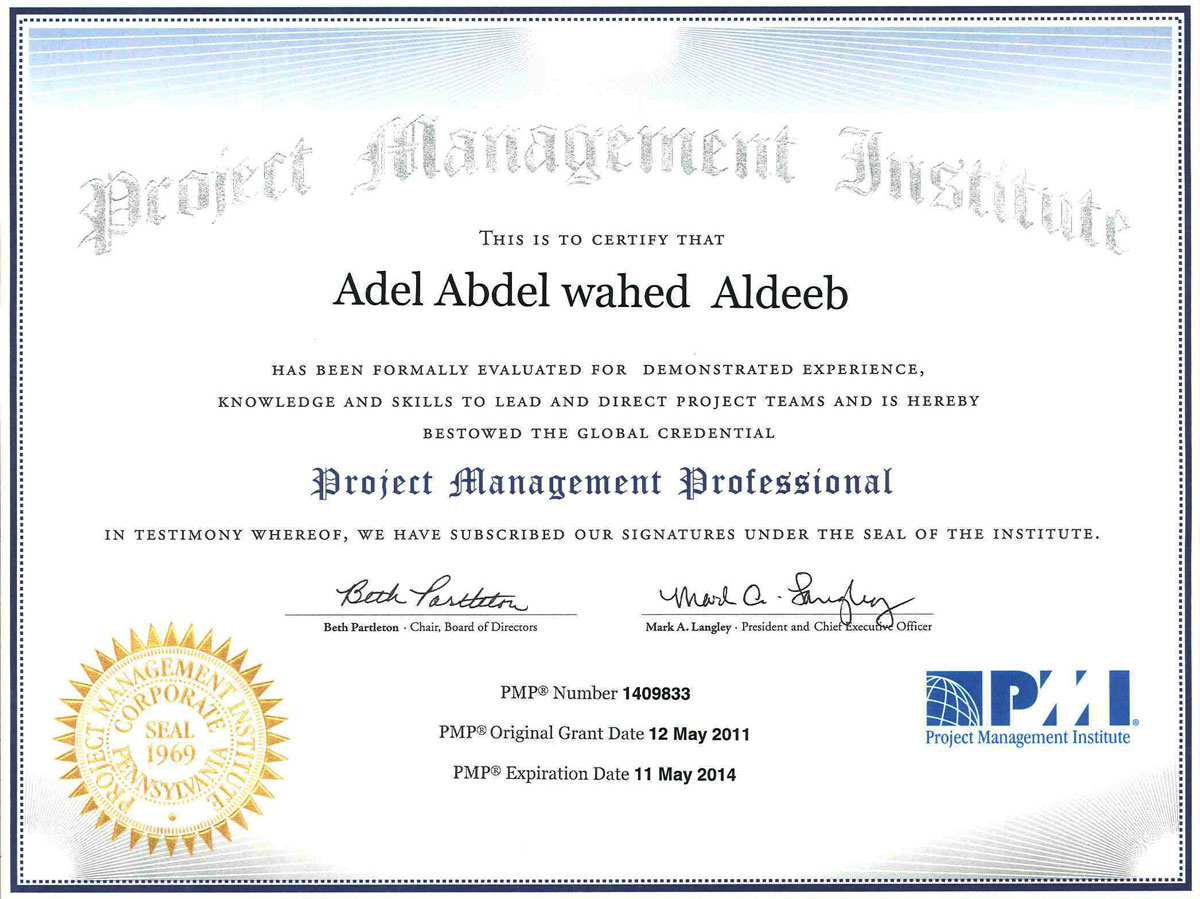 Certificate In Project Management Certificates Templates Free