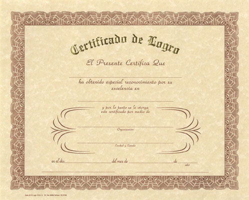Deluxe Spanish Award Certificates, Spanish: Teacher's Discovery