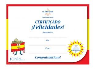 Spanish Certificate iChild