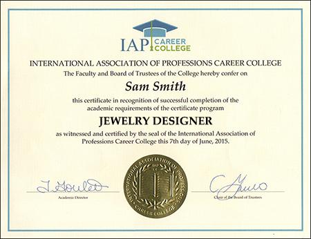 Jewelry Designer Certificate Course Online