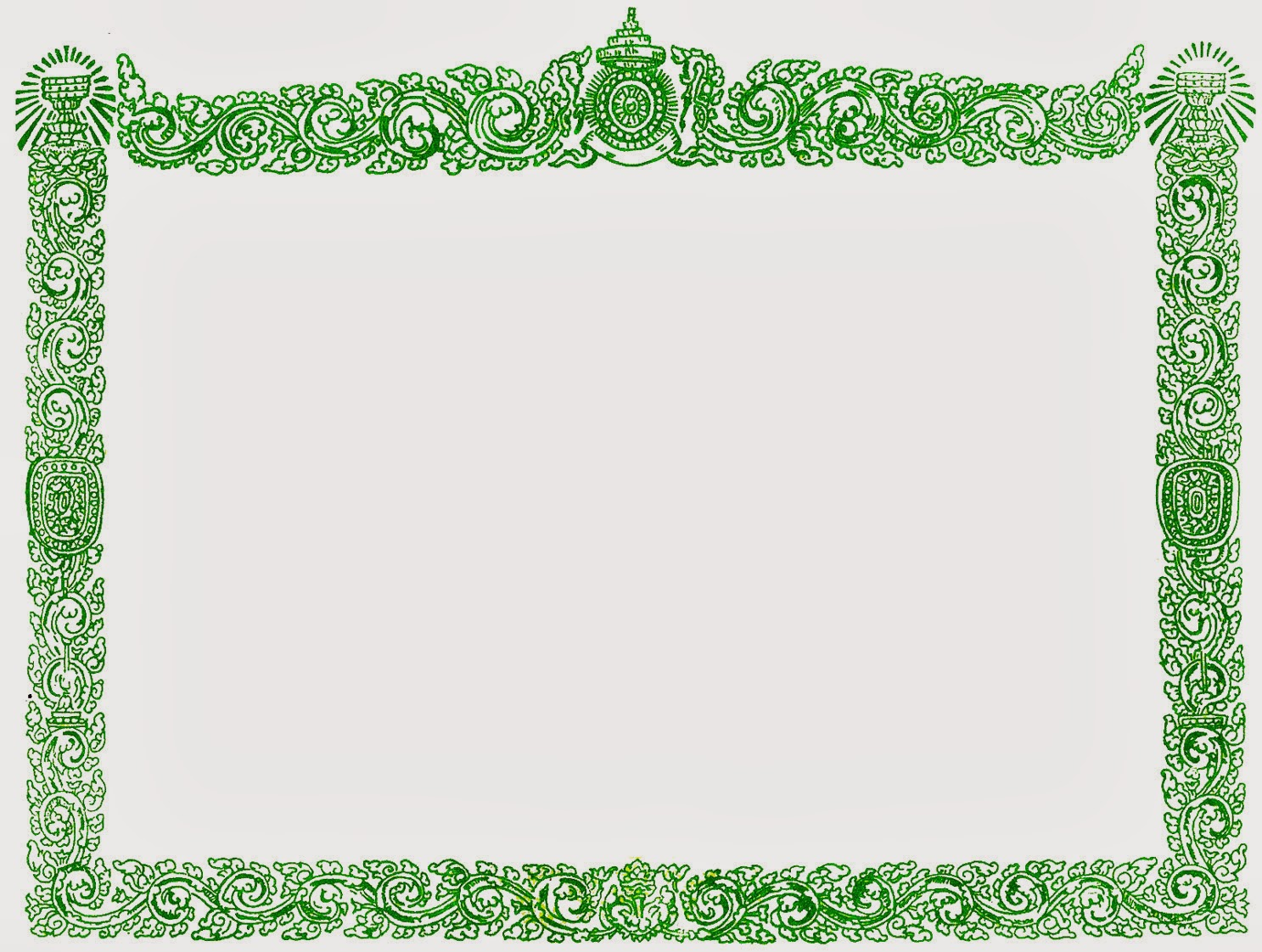 Khmer Vector: Border Frame for Certificate (Kback Khmer