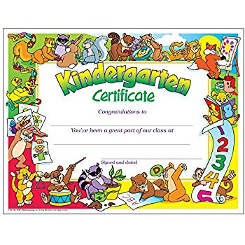 Amazon.: Kindergarten Certificate : Academic Awards And