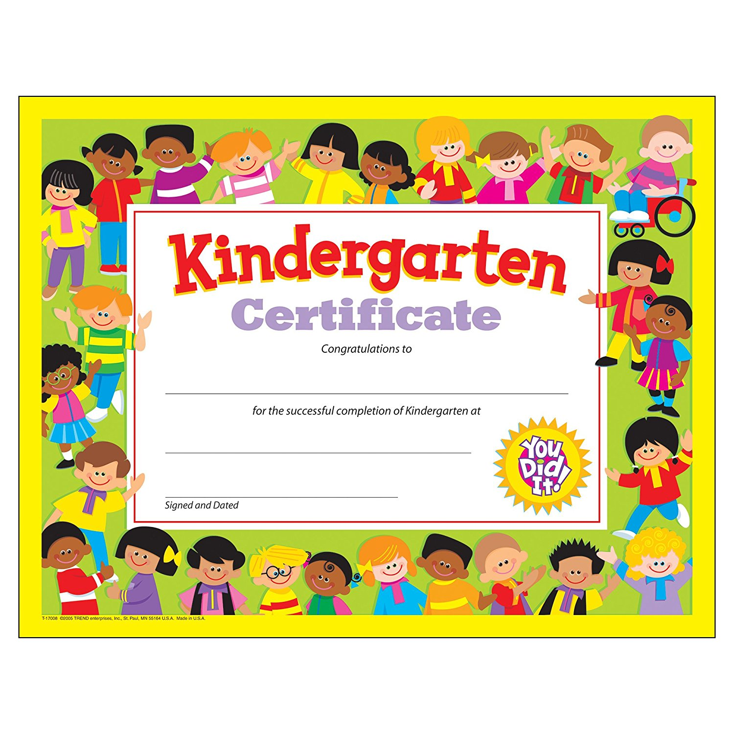 Kindergarten Awards Certificates: Certificates Templates Free