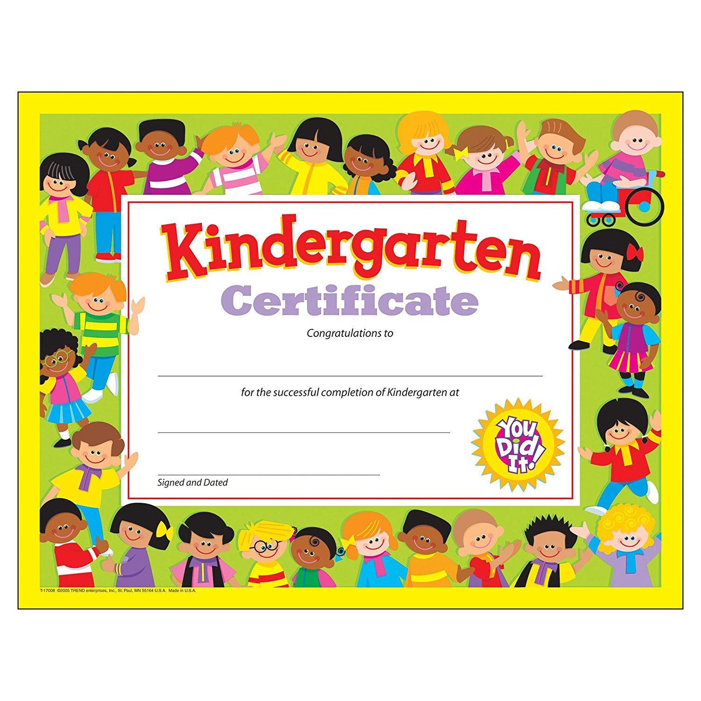Amazon.: Trend Enterprises Kindergarten Certificates, 30/pkg
