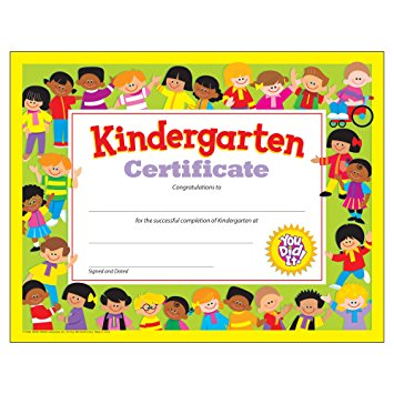 Kindergarten Certificate | Homeschool Stuff | Pinterest