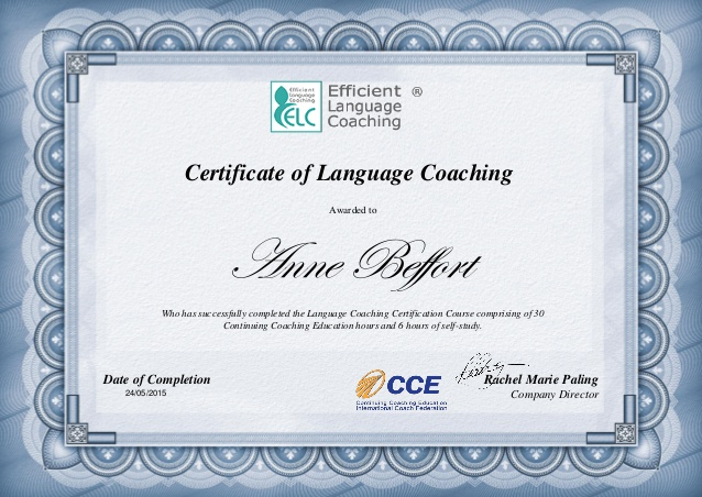Certificate Language Coach