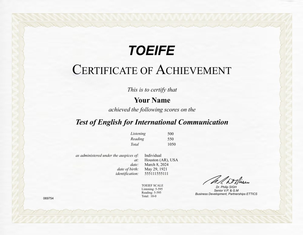 Fake English Language Testing Diploma Outlet