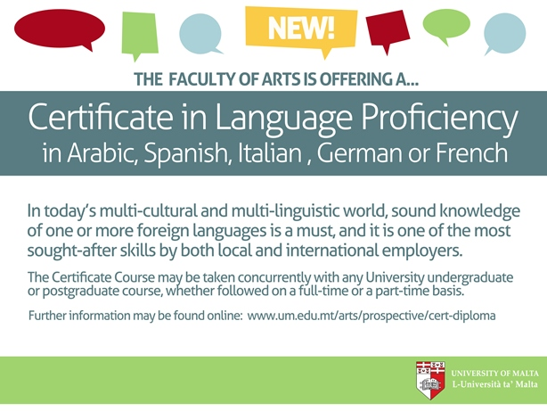 Certificate in Language Proficiency (Malta) Faculty of Arts