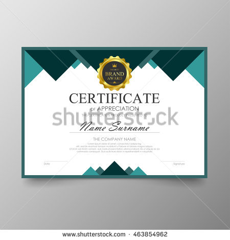 Horizontal Certificate Template,diploma,Letter Size ,vector Stock