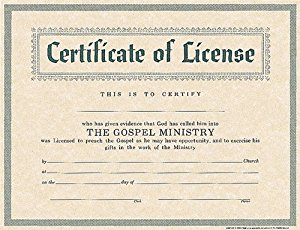 Amazon.: Certificate of License for Minister : Holman