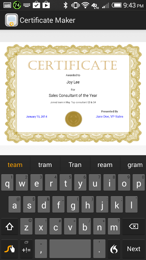 Certificate Maker! Diploma etc Android Apps on Google Play