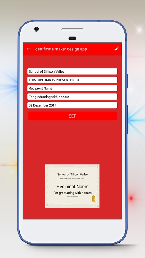 Certificate Maker app & Create Certificate Android Apps on