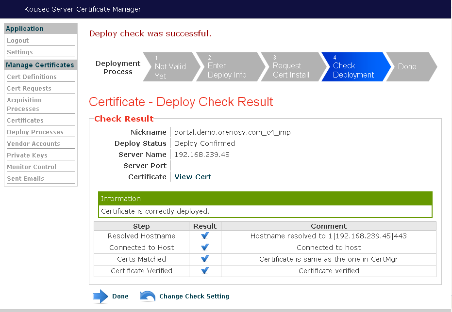 What's the Direct URL for the IBM i Digital Certificate Manager