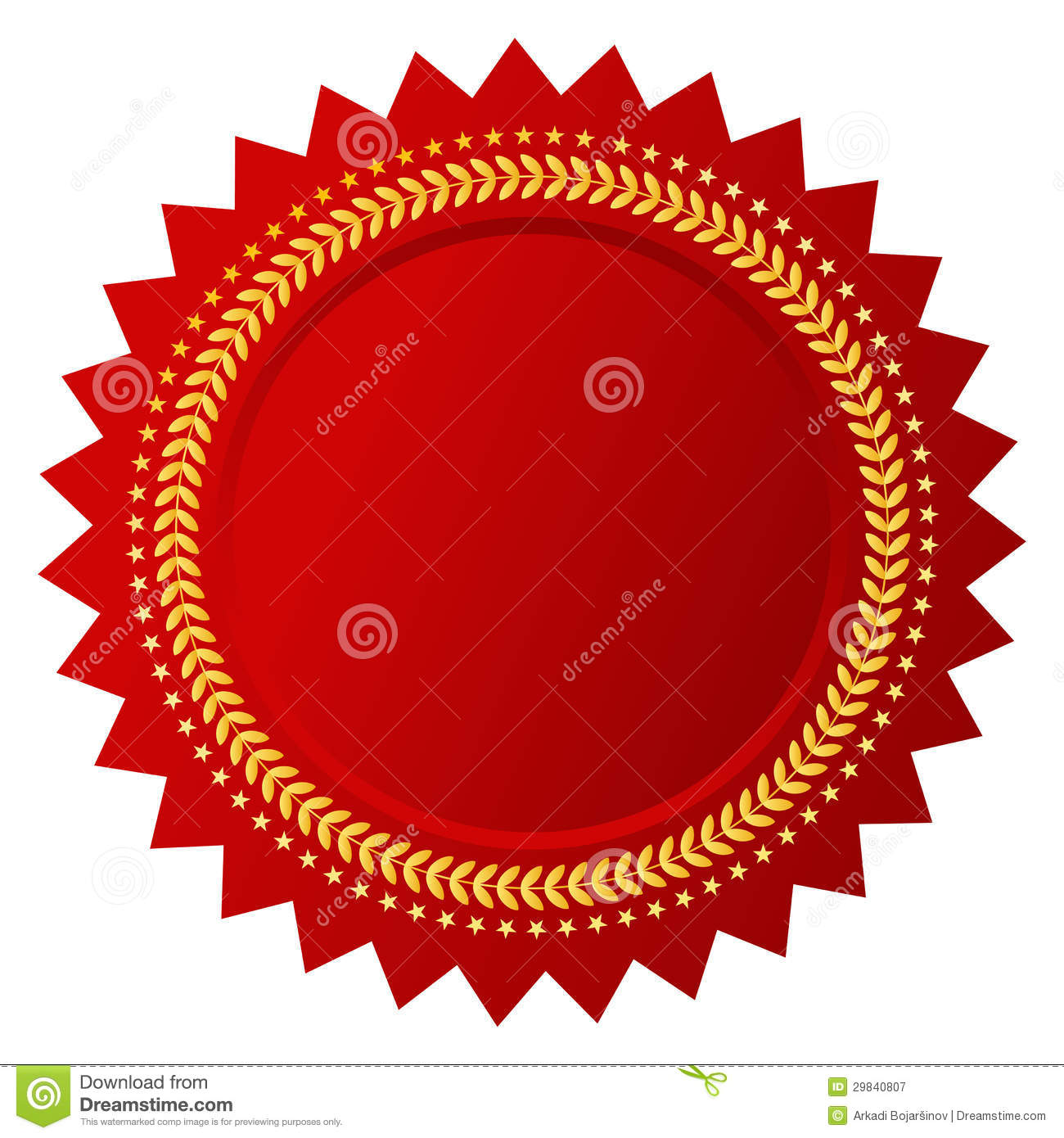 Vector certificate stock vector. Image of banner, business 29840807