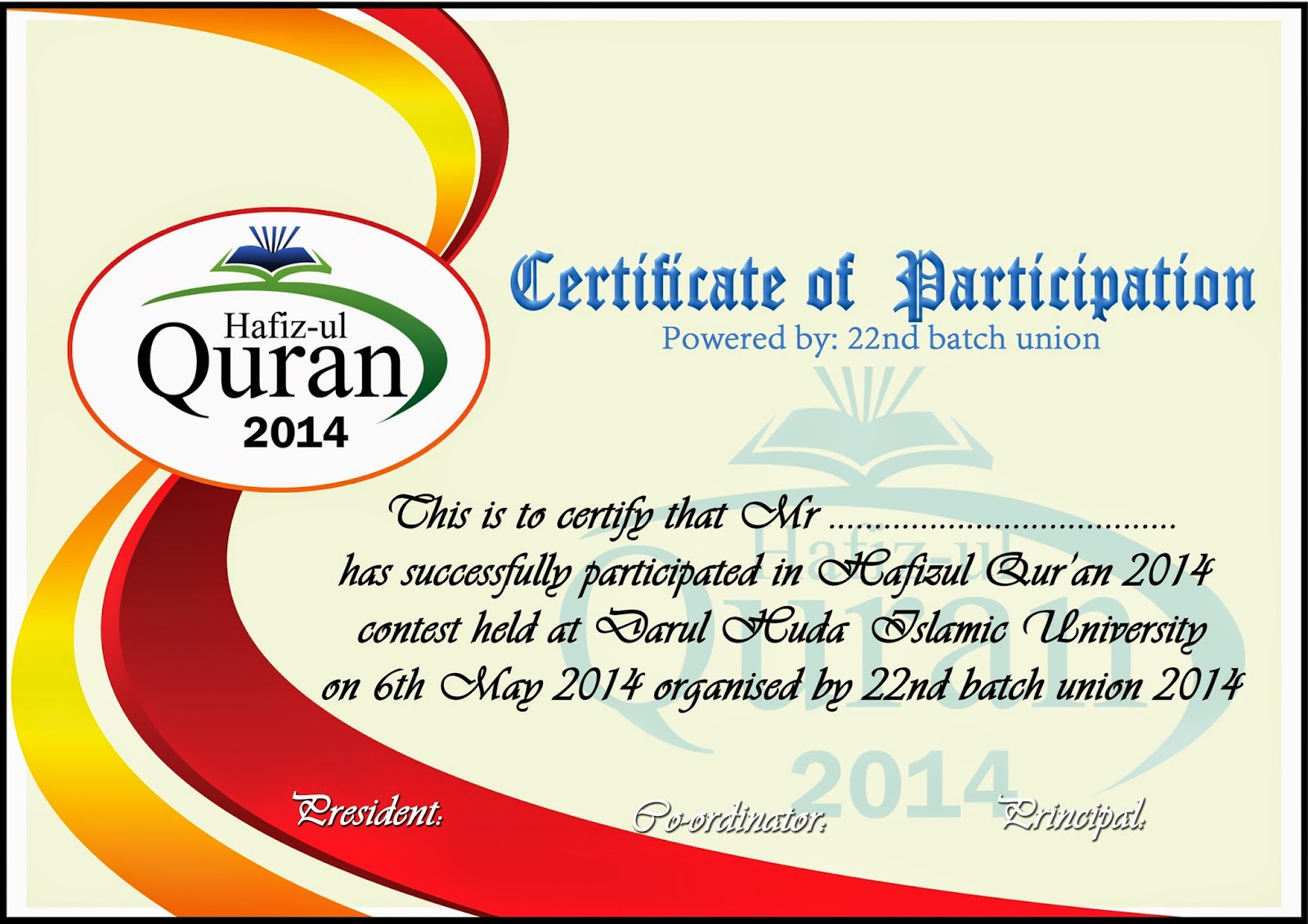Certificate model | WE DESIGN