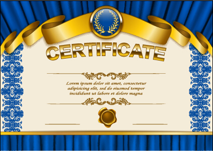 Vector certificate template exquisite vector 07 Vector Cover