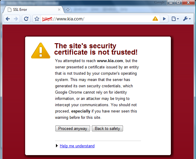 Why do I keep getting certificate errors in my browser
