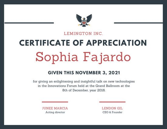 Appreciation Certificate Templates Canva