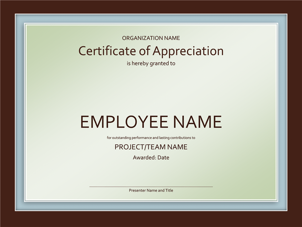 Certificate of appreciation Office Templates