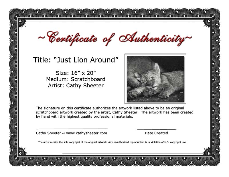 Certificates of Authenticity | Artsy Shark