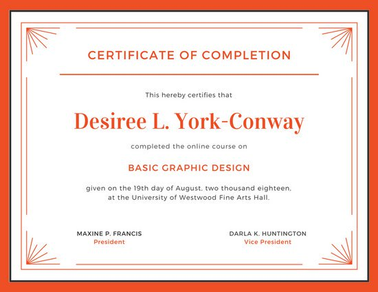 Image result for certificate of completion template | supplies