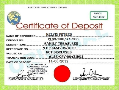 What is certificate of deposit