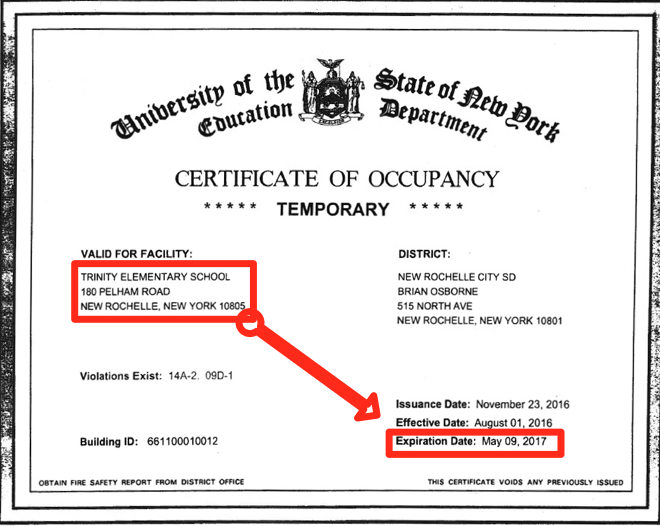 Midnight Expiration of Certificate of Occupancy