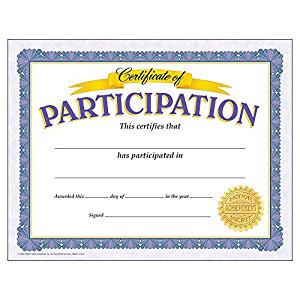 Amazon.com: Trend Enterprises Certificate of Participation, 30 per