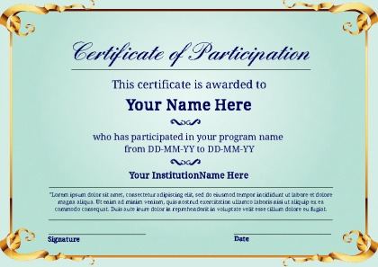 Certificate Of Participation Template Word imts2010.info