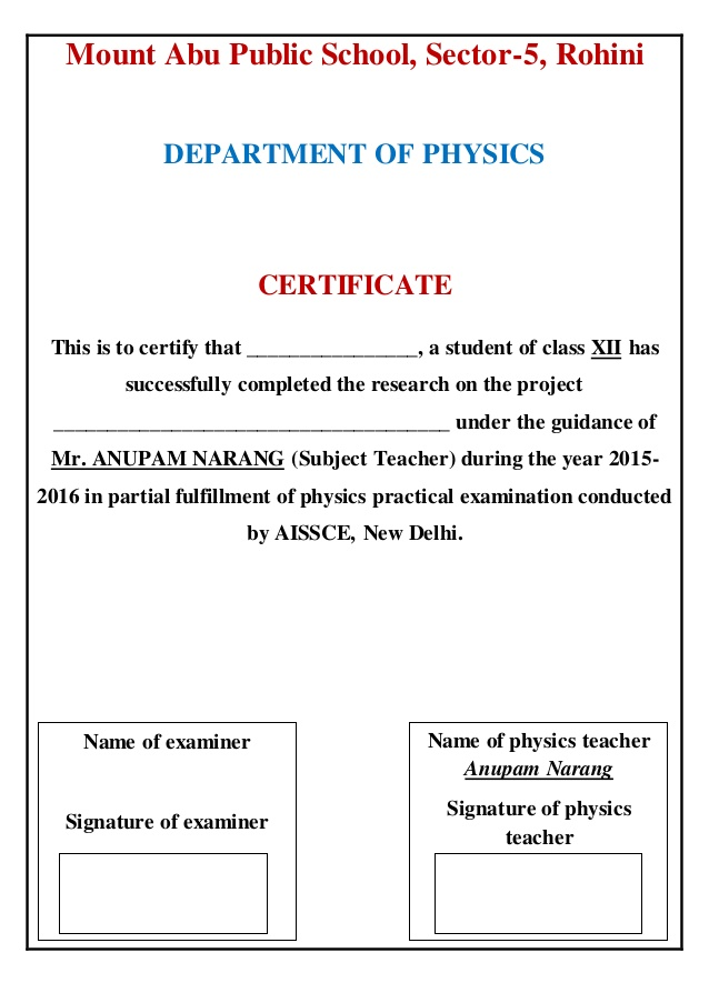 Certificate Page For Project Certificates Templates Free